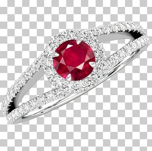 Ruby Ring Jewellery Diamond Birthstone PNG