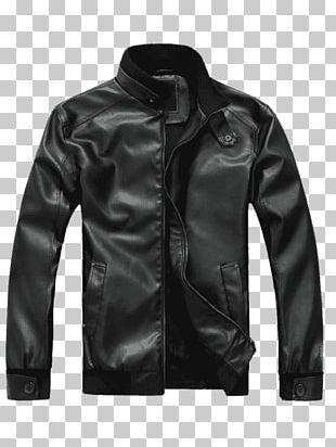 Hoodie Leather Jacket Coat Clothing PNG