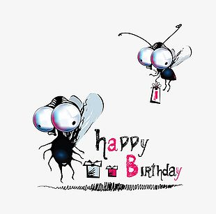 Insect Cartoon Animals Birthday Buckle Clip Free Hd PNG