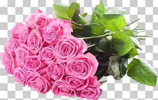 Flower Bouquet Rose Pink Flowers Floristry PNG