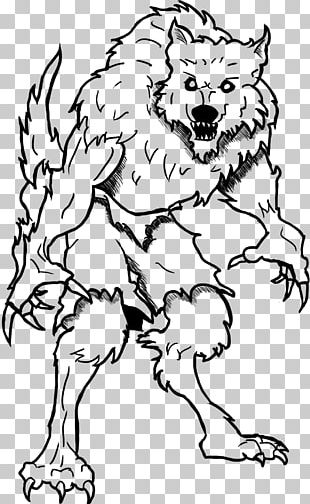 Coloring Book Child Halloween Werewolf Drawing PNG