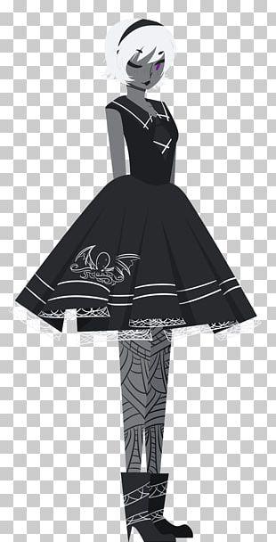 Fashion Design Dress Black M PNG