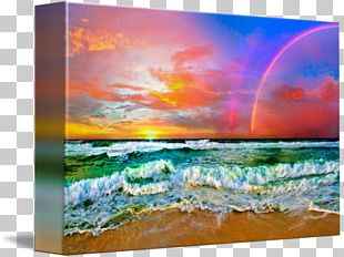 Shore Sky Painting Wind Wave Sea PNG