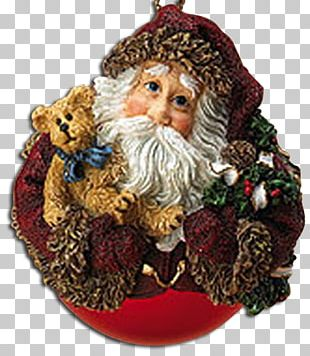 Christmas Ornament Boyds Bears Santa Claus PNG