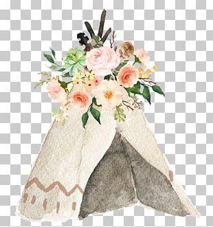 Pow Wow Wedding Invitation Tipi PNG