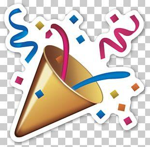 Emoji Sticker Confetti Party Smiley PNG