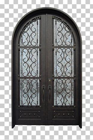 Iron Door Arch Window Gate PNG