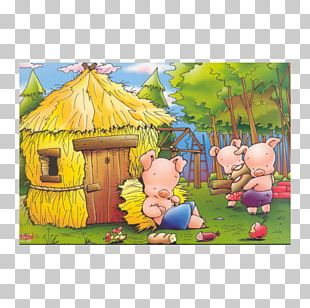 The Three Little Pigs Big Bad Wolf Domestic Pig Short Story Fairy Tale PNG