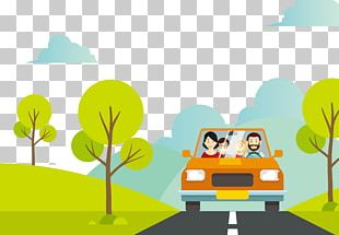 Cartoon Vacation Family Illustration PNG