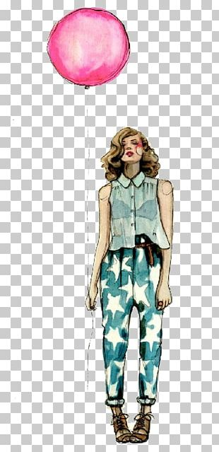 Fashion Illustration Drawing Model Watercolor Painting PNG