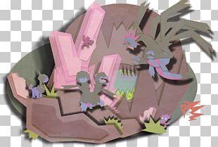 Cartoon Pink M PNG
