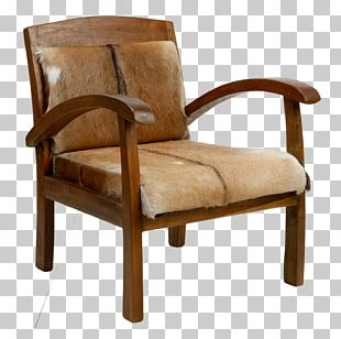 Club Chair Armrest Wood Garden Furniture PNG