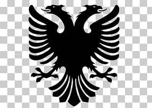 Flag Of Albania T-shirt Double-headed Eagle Albanian Language PNG