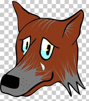 Red Fox Gray Wolf Whiskers Big Sad Wolf Snout PNG