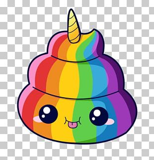 Unicorn Pile Of Poo Emoji Feces We Heart It PNG