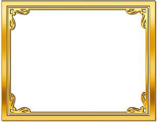 Frames Gold Desktop PNG