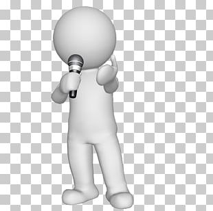 Microphone 3-D Man Sound Recording And Reproduction Character PNG