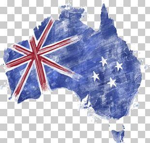 Flag Of Australia Map PNG