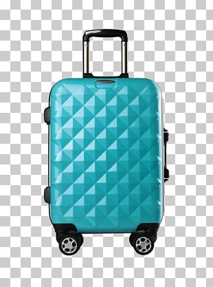 Suitcase Hand Luggage Travel Trolley Diamond PNG