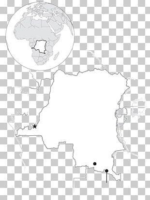 Democratic Republic Of The Congo Human Behavior Map Line Art Sketch PNG