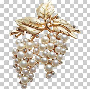 Pearl Earring Brooch Jewellery Costume Jewelry PNG