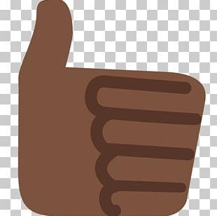 Thumb Signal Emoji Black Human Skin Color PNG