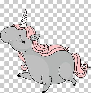 Paper Unicorn Mobile Phone Partition Wall PNG