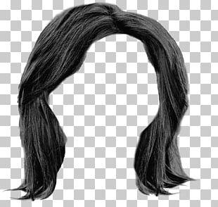 Hairstyle Wig Long Hair Black Hair PNG