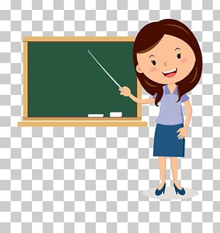 Teacher Cartoon Blackboard PNG