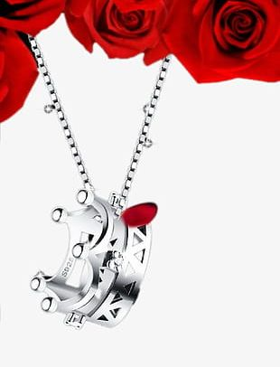 3q Jewelry 925 Silver Crown Princess Necklace PNG