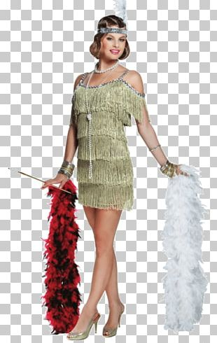 1920s The Great Gatsby Flapper Costume Dress PNG