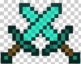 Minecraft Diamond Sword Video Game Mob PNG