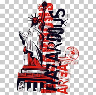 Statue Of Liberty Printed T-shirt Clothing PNG