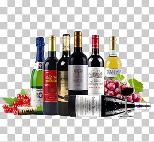 Red Wine Champagne Brandy Liqueur PNG