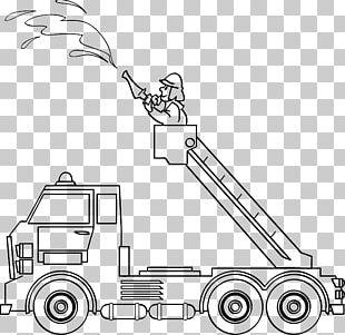 Ausmalbild Hilfeleistungslöschgruppenfahrzeug Fire Engine Firefighter Fire Department PNG