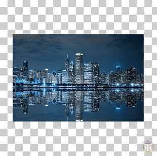 Chicago Wall Building Canvas Print PNG