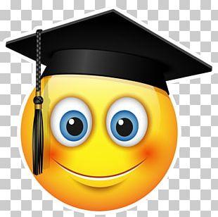 Graduation Ceremony Emoticon Emoji Smiley Square Academic Cap PNG