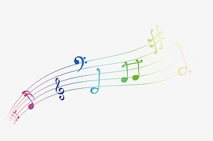 Color Musical Notes Decorative Patterns PNG
