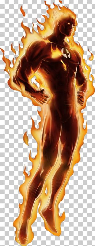 Human Torch Standing PNG
