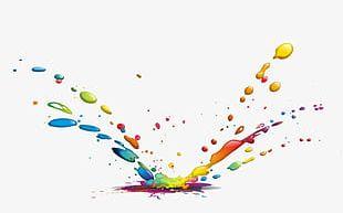 Color Splash Water Drops PNG