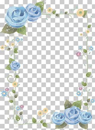 Flower Blue Rose Frames PNG