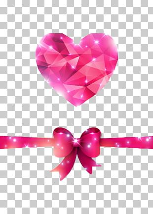Paper Diamond Heart Valentines Day PNG
