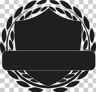 Motif Shield Black And White PNG