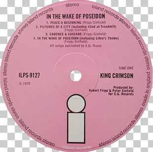 King Crimson In The Wake Of Poseidon Red Gatefold Record Label PNG