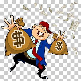 Money Bag Cartoon Handbag PNG