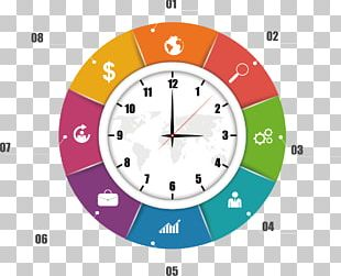Infographic Clock Adobe Illustrator PNG