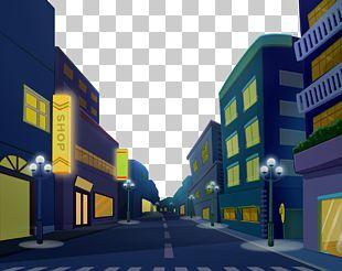 Cartoon Street PNG