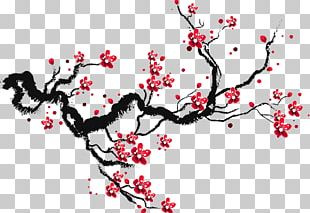 Cherry Blossom Drawing Paper Sketch PNG