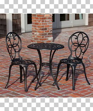 Garden Furniture Table Patio Wicker Chair PNG