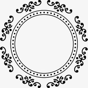 Hand Painted Black Circle PNG